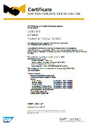 SAP ECC 6.0 Certificate