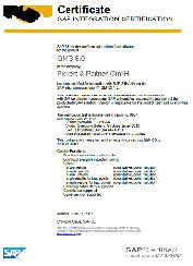 QM/3 HANA Certificate